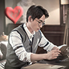 Shen Wei reading *heart*